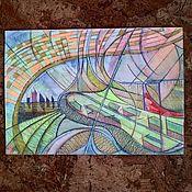 Картины и панно handmade. Livemaster - original item Futuristic city .. Handmade.
