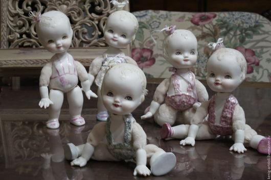Коллекционные куклы ручной работы. Ярмарка Мастеров - ручная работа. Купить LoveChild. Малышки в стиле антикварочек. Handmade. Бледно-розовый