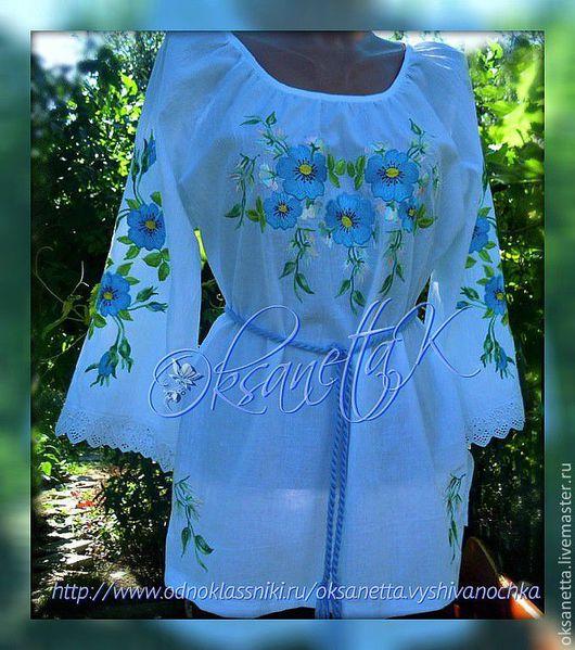 """Блузки ручной работы. Ярмарка Мастеров - ручная работа. Купить Блуза """"Славяночка"""". Handmade. Белый, украинская блуза, вышитая одежда"""
