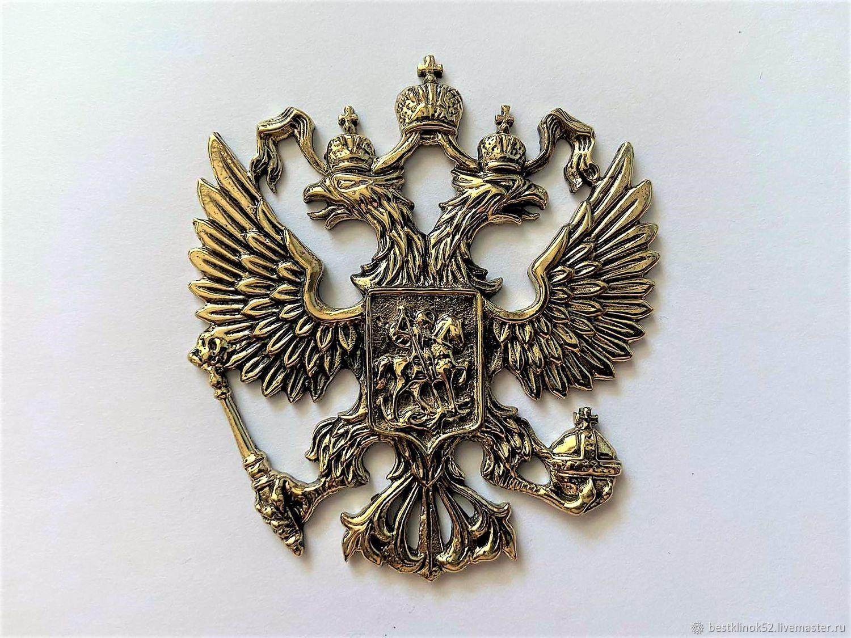 Художественное литье герб России, Народные сувениры, Павлово,  Фото №1