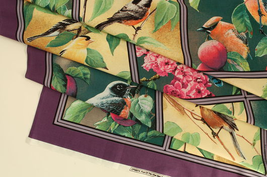 """Шитье ручной работы. Ярмарка Мастеров - ручная работа. Купить Панель """"Три или четыре птички"""". Handmade. Ткани, хлопок"""
