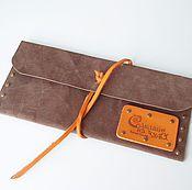 Сувениры и подарки ручной работы. Ярмарка Мастеров - ручная работа Кожаный конверт для путешествий. Handmade.