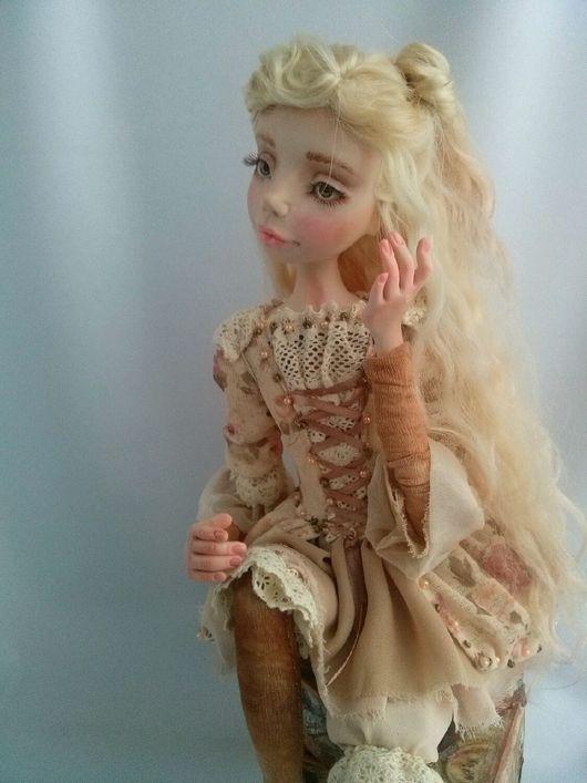 Коллекционные куклы ручной работы. Ярмарка Мастеров - ручная работа. Купить Путешественница Леся:). Handmade. Радостьдарящая, купить, волосы натуральные
