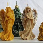 Свечи ручной работы. Ярмарка Мастеров - ручная работа Свечи: Ангел хранитель. Handmade.