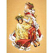 Картины и панно ручной работы. Ярмарка Мастеров - ручная работа Вышивка Рождественская королева (Royal Holiday). Handmade.