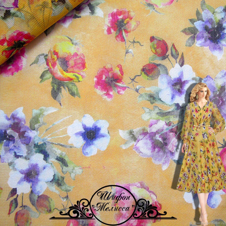Сhiffon silk итальянские ткани, Fabric, Sochi,  Фото №1