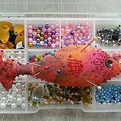 Игольницы ручной работы. Ярмарка Мастеров - ручная работа Игольница Рыбка красная. Handmade.