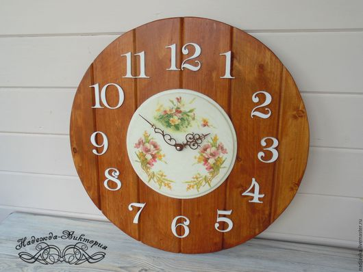 """Часы для дома ручной работы. Ярмарка Мастеров - ручная работа. Купить Часы настенные 48см """"Летние"""". Handmade. Часы настенные"""