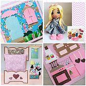 Кубики и книжки ручной работы. Ярмарка Мастеров - ручная работа Кукольный домик из фетра и ткани с куклой. Handmade.