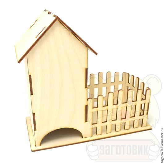 Чайный домик с конфетницей 1-01-01-040. Идеально помещается 25 пакетиков. Подставки не склеены, нижнюю можно не использовать. Цена: 115 руб.