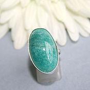 Украшения handmade. Livemaster - original item Ring with amazonite. Silver. Handmade.