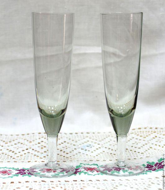 Винтажная посуда. Ярмарка Мастеров - ручная работа. Купить Пара оригинальных высоких рюмочек для вина начало 20 века. Handmade.