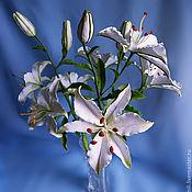Цветы и флористика ручной работы. Ярмарка Мастеров - ручная работа Букет белых лилий. Handmade.