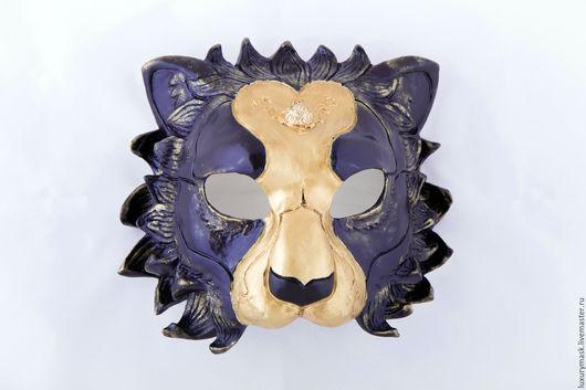 """Карнавальные костюмы ручной работы. Ярмарка Мастеров - ручная работа. Купить Маска """" Lion"""". Handmade. Тёмно-синий, золото"""