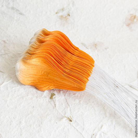 Материалы для флористики ручной работы. Ярмарка Мастеров - ручная работа. Купить 50 шт. Оранжевые лепестки магнолии. Handmade.