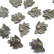 handmade. Livemaster - original item Owl pendant, metal, bronze, jewelry accessories. Handmade.
