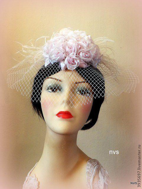 Одежда и аксессуары ручной работы. Ярмарка Мастеров - ручная работа. Купить шляпка из роз. Handmade. Белый, шляпка-таблетка