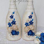 """Свадебный салон ручной работы. Ярмарка Мастеров - ручная работа Оформление свадебных бутылок, коллекция """"Версаль"""". Handmade."""