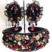 Украшения handmade. Livemaster - original item Headband and earrings, jewelry set in Baroque style. Handmade.
