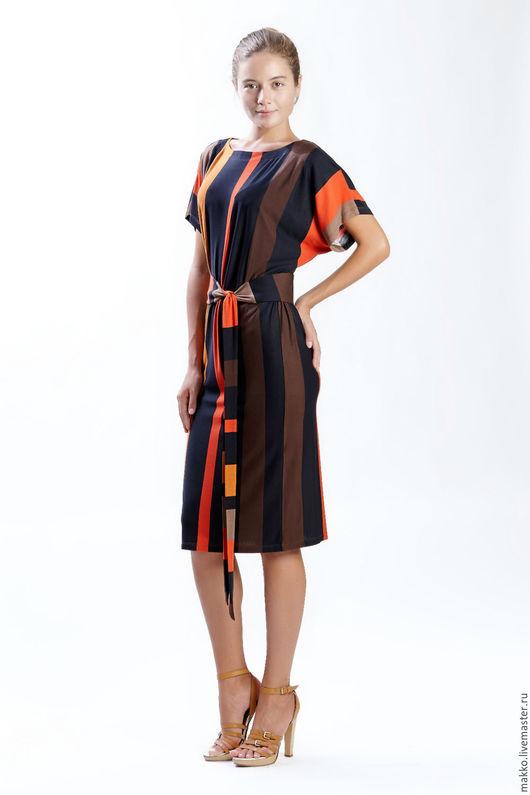 Платье `Кушак` терракот 11290