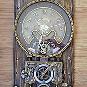 """Часы классические ручной работы. Ярмарка Мастеров - ручная работа Часы настенные декорат. """"Machine time calculations"""". Handmade."""