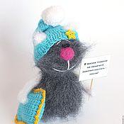 Куклы и игрушки ручной работы. Ярмарка Мастеров - ручная работа Кот вязаный Дремка (коты, игрушка, подарок). Handmade.