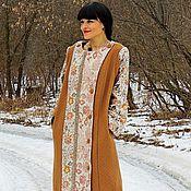 Одежда ручной работы. Ярмарка Мастеров - ручная работа Платье-пальто из натуральной коллекционной шерсти (№28). Handmade.