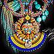 """Колье, бусы ручной работы. Африканское украшение """"Tugela"""" в этническом стиле. Елена Свиридонова MilenaAleksandra. Ярмарка Мастеров. африканский стиль"""