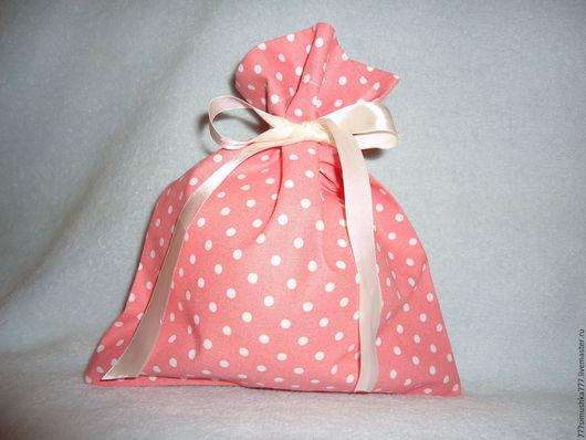 Подарочная упаковка ручной работы. Ярмарка Мастеров - ручная работа. Купить Мешочек для подарка. Handmade. Розовый, подарок на новый год
