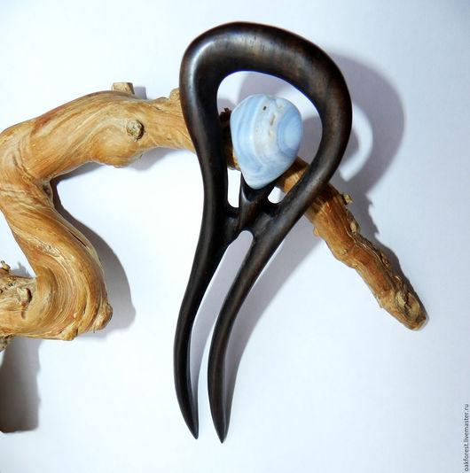 """Заколки ручной работы. Ярмарка Мастеров - ручная работа. Купить Заколка для волос из дерева """"Лазурный берег"""" (палисандр). Handmade."""