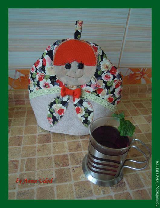 Кухня ручной работы. Ярмарка Мастеров - ручная работа. Купить Грелка на чайник матрешка. Handmade. Ярко-красный, грелка для кухни