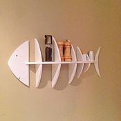 Полки ручной работы. Ярмарка Мастеров - ручная работа Полка Рыбка. Handmade.