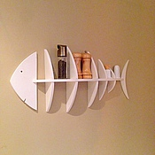 Shelves handmade. Livemaster - original item Shelf Fish. Handmade.