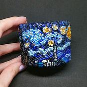 """Украшения ручной работы. Ярмарка Мастеров - ручная работа Браслет по мотивам картины Ван Гога """"Звездная ночь"""". Handmade."""