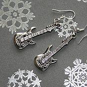 """Украшения ручной работы. Ярмарка Мастеров - ручная работа Серьги """"Guitar"""". Handmade."""
