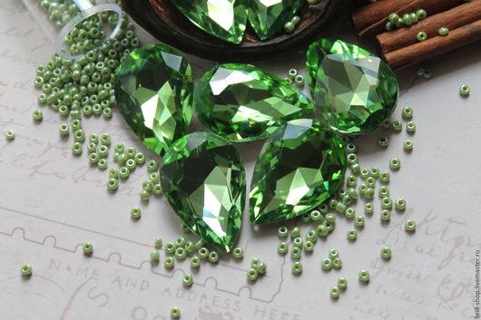 Для украшений ручной работы. Ярмарка Мастеров - ручная работа. Купить Капли 13х18 мм Peridot (Перидот). Handmade. Зеленый