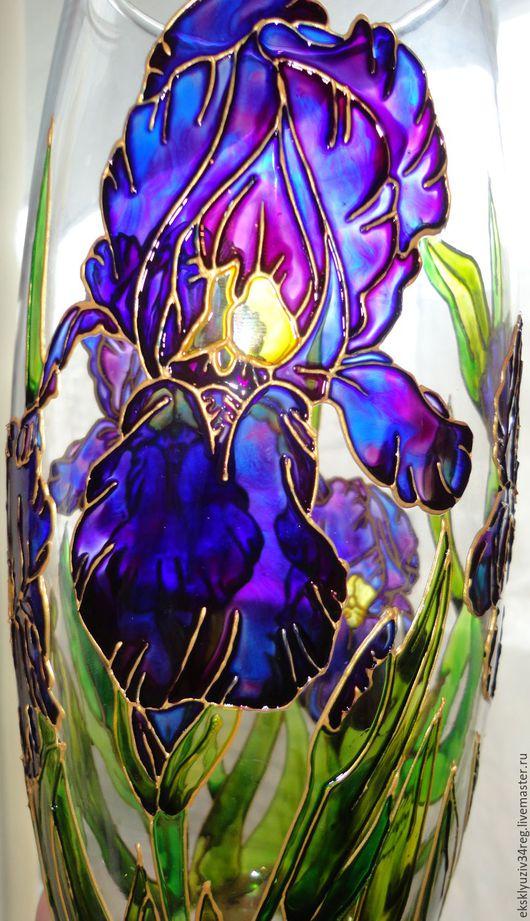 """Вазы ручной работы. Ярмарка Мастеров - ручная работа. Купить Вазы """"Цветы"""". Handmade. Комбинированный, краски"""
