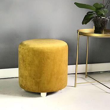 Мебель ручной работы. Ярмарка Мастеров - ручная работа Пуфик горчично-золотой. Handmade.