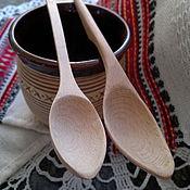 Посуда ручной работы. Ярмарка Мастеров - ручная работа Ложки чайные буковые резные. Handmade.