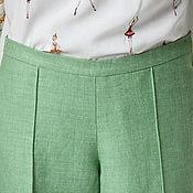 Одежда ручной работы. Ярмарка Мастеров - ручная работа Брючки из шерсти и шелка на подкладе. Handmade.