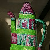 Посуда ручной работы. Ярмарка Мастеров - ручная работа Чайник-кувшин Прекрасный зелёный. Handmade.