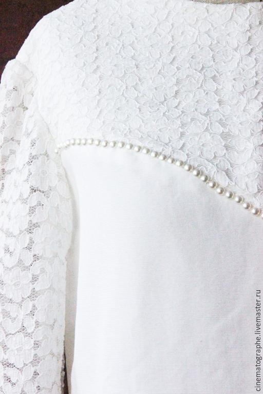 Одежда. Ярмарка Мастеров - ручная работа. Купить Свадебное платье Америка 60-е годы. Handmade. Белый, винтажное платье