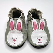 Одежда детская handmade. Livemaster - original item Bunny Baby Shoes, Pink Girl Shoes, Toddler Shoes, Ebooba. Handmade.
