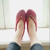 """Обувь ручной работы. Ярмарка Мастеров - ручная работа Вязаные следки """"Розово-шиповые"""". Handmade."""