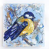 Картины и панно ручной работы. Ярмарка Мастеров - ручная работа Синица, декоративное деревянное панно. Handmade.