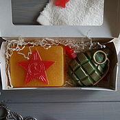 Косметика ручной работы handmade. Livemaster - original item Soap set For men (pomegranate and plaque). Handmade.