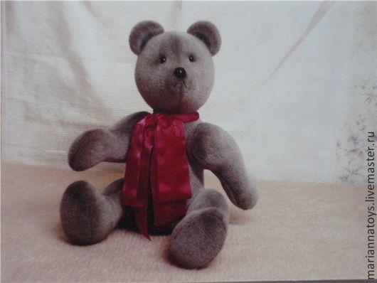 Мишки Тедди ручной работы. Ярмарка Мастеров - ручная работа. Купить Первый мишка. Handmade. Серый, мишка, тедди, медведь