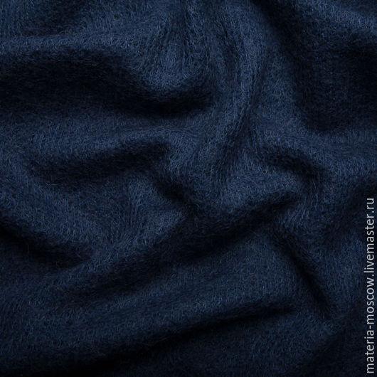 Шитье ручной работы. Ярмарка Мастеров - ручная работа. Купить Ткань. Мохер (синий). Handmade. Тёмно-синий, мохеровый