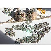 """Одежда ручной работы. Ярмарка Мастеров - ручная работа Телесная ажурная основа костюма со стразами """"Shine"""". Handmade."""