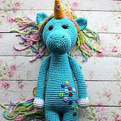 Stuffed Toys handmade. Livemaster - original item One unicorn`s rainbow Lisa). Handmade.